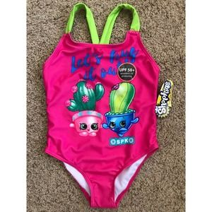 Shopkins Prickles Spike UPF 50+ One Piece Swimsuit